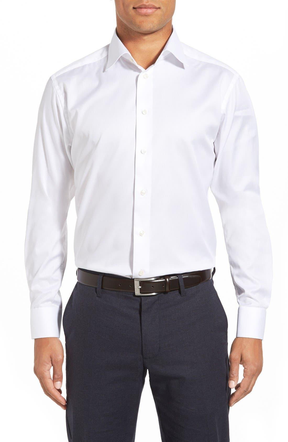 Main Image - Eton Slim Fit Twill Dress Shirt