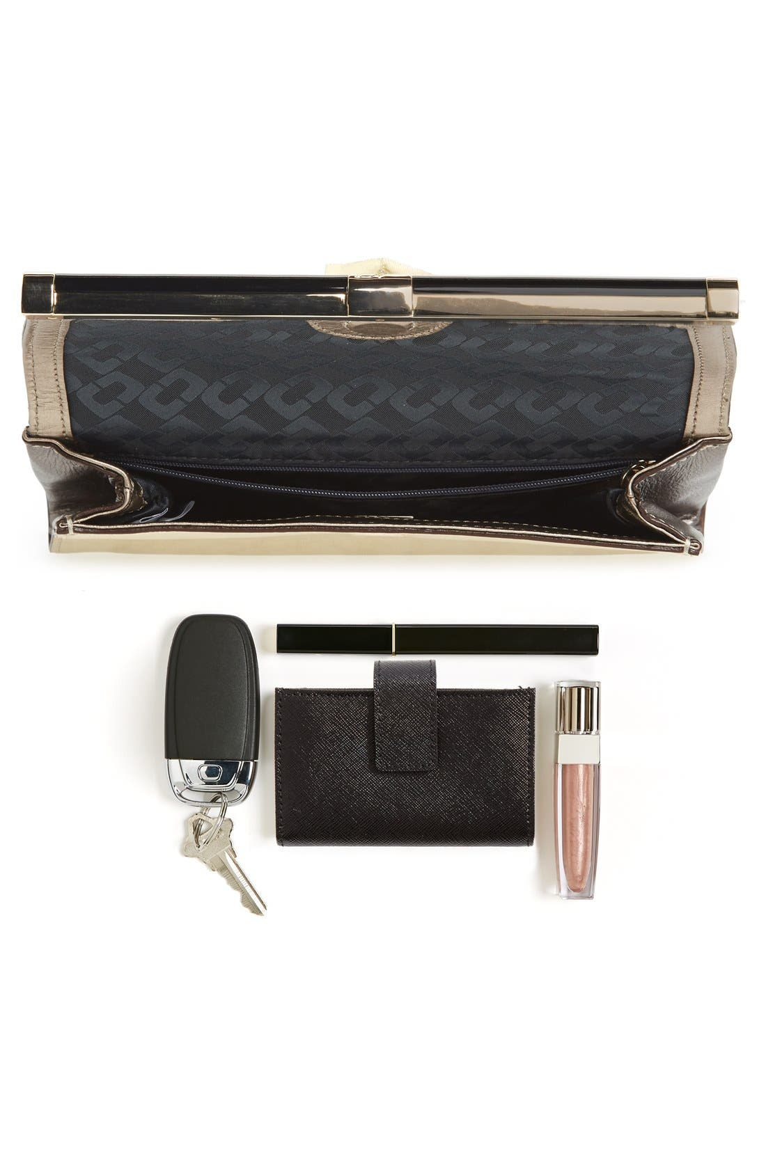 '440 - Mixed Metallic' Envelope Clutch,                             Alternate thumbnail 5, color,                             Tinsel/ Light Gold/ Pewter