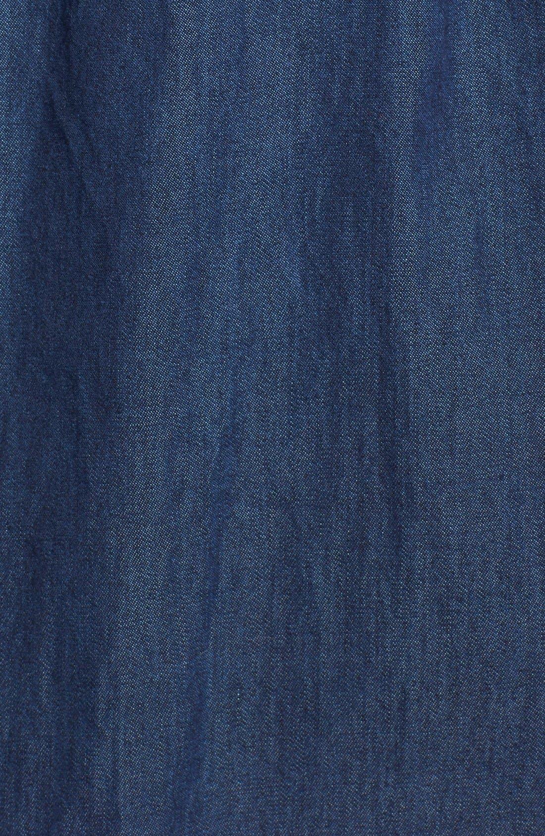 Alternate Image 6  - ECIBelted Denim Shirtdress