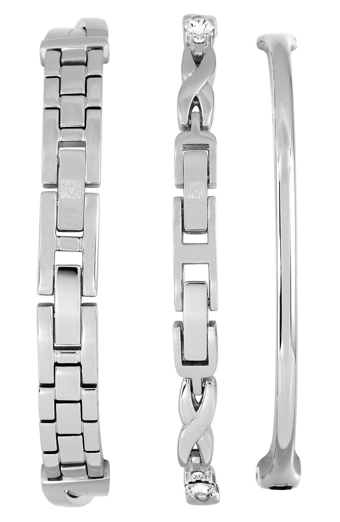 Alternate Image 2  - Anne Klein Boxed Bracelet & Bangle Set, 24mm