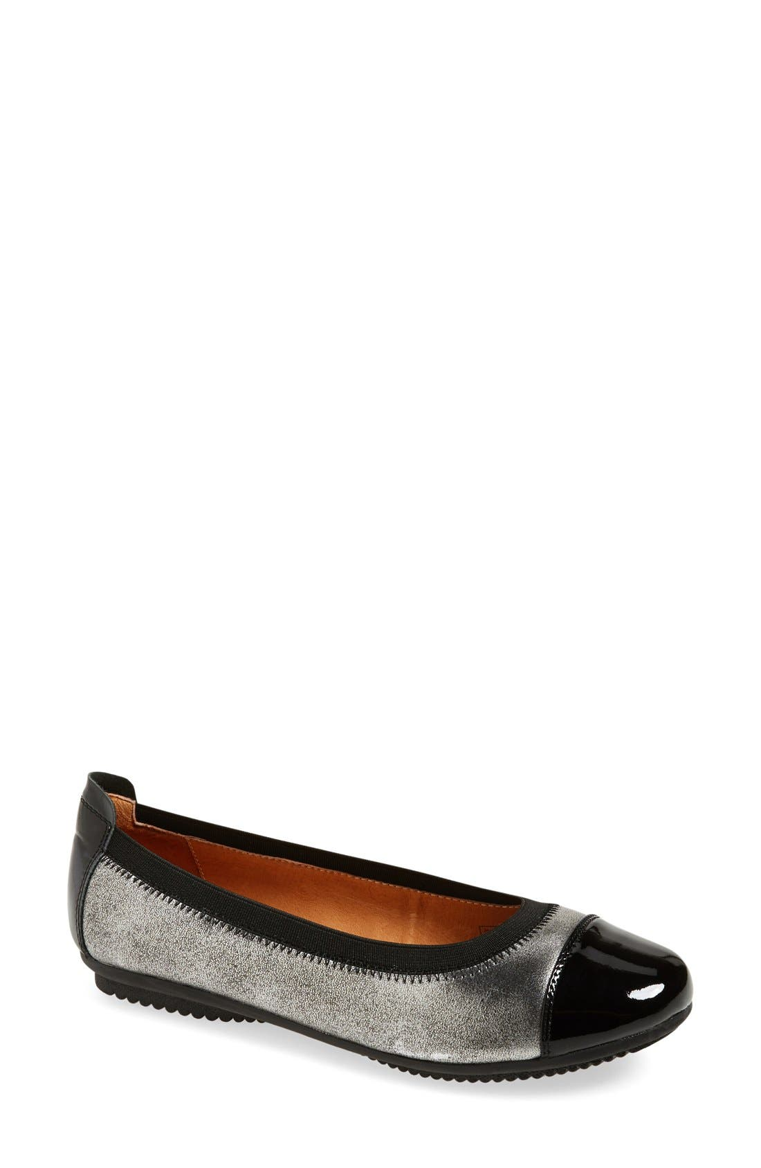 Pippa 07 Flat,                         Main,                         color, Basalt Leather