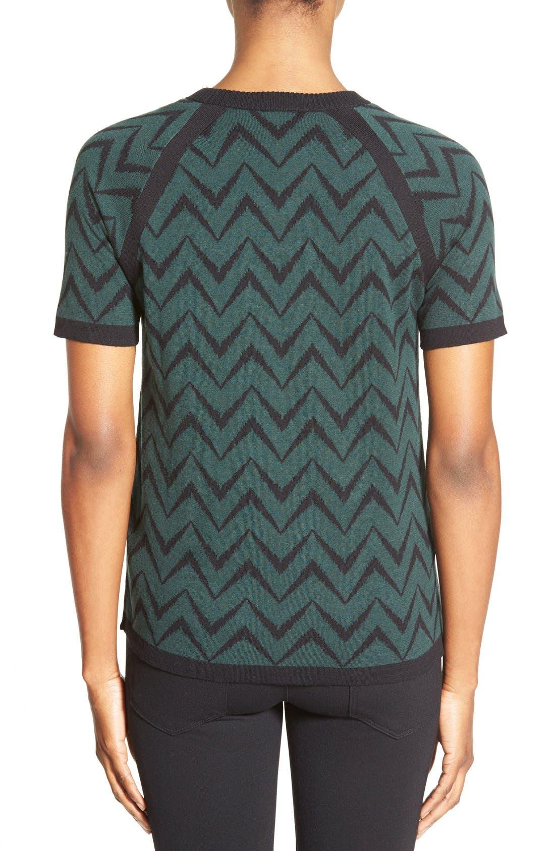 Alternate Image 2  - Anne Klein Chevron Stripe Crewneck Sweater