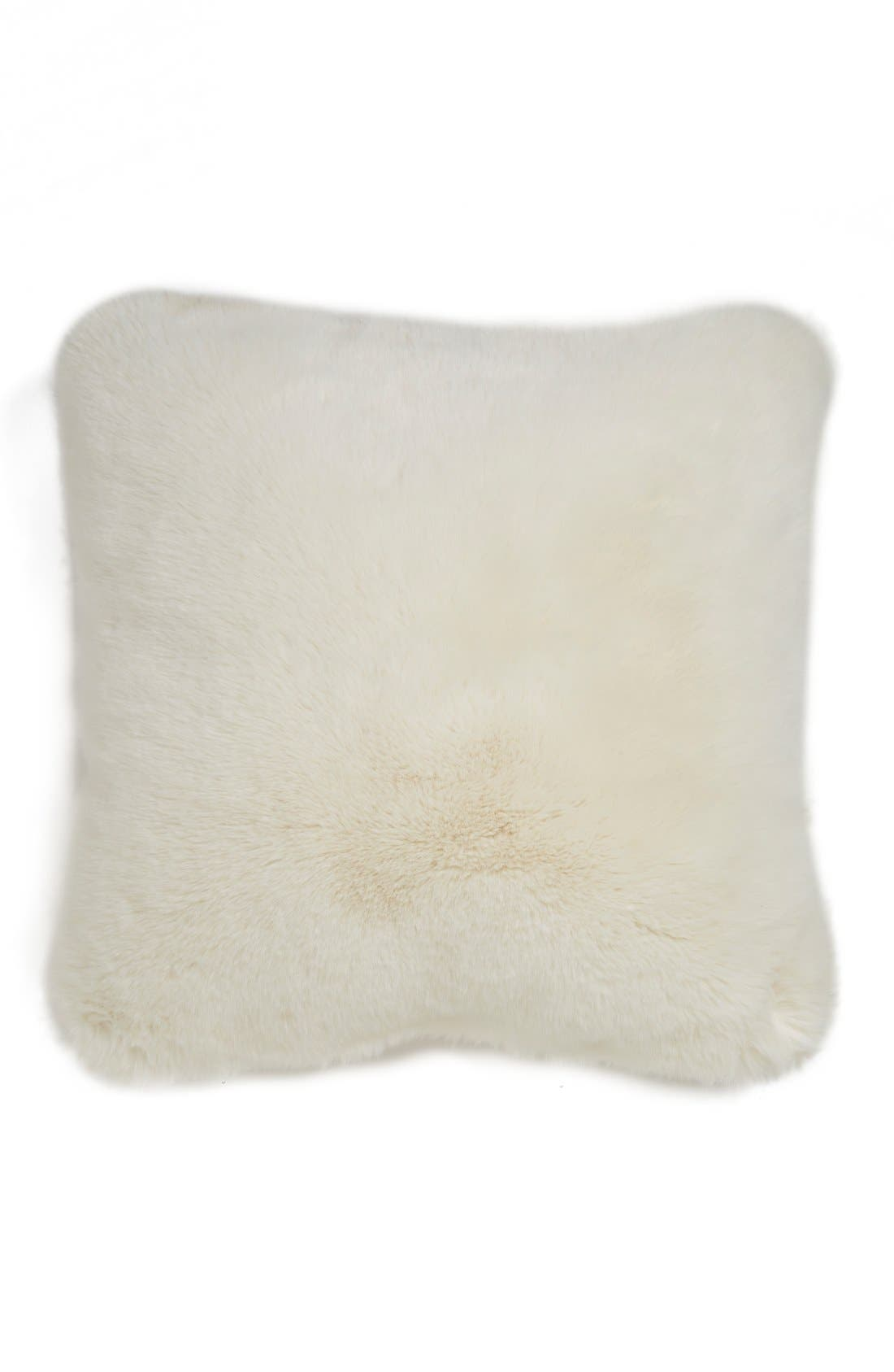 Main Image - Nordstrom at Home Cuddle Up Faux Fur Square Accent Pillow
