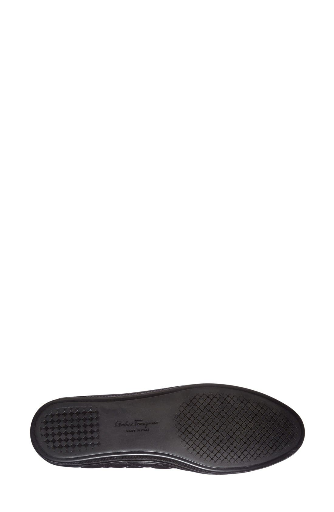 Alternate Image 4  - Salvatore Ferragamo Quilted Skimmer Flat (Women)