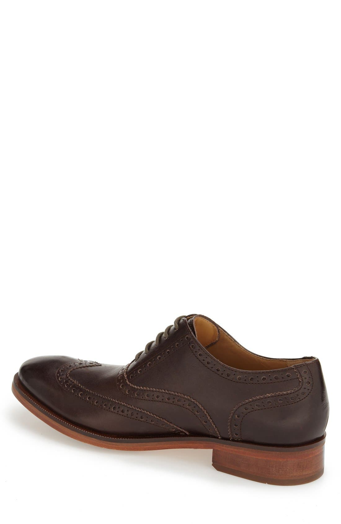 'Colton' Wingtip Oxford,                             Alternate thumbnail 2, color,                             Chestnut