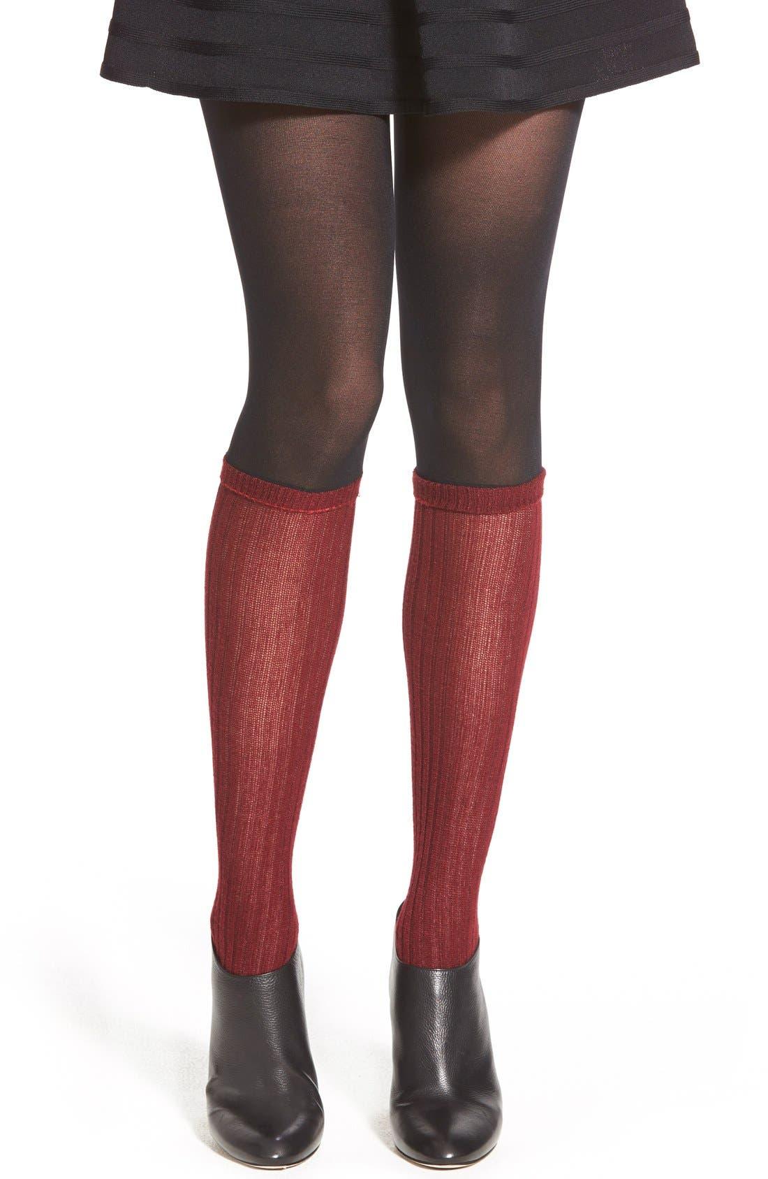 Main Image - kensie Layered Socks & Tights