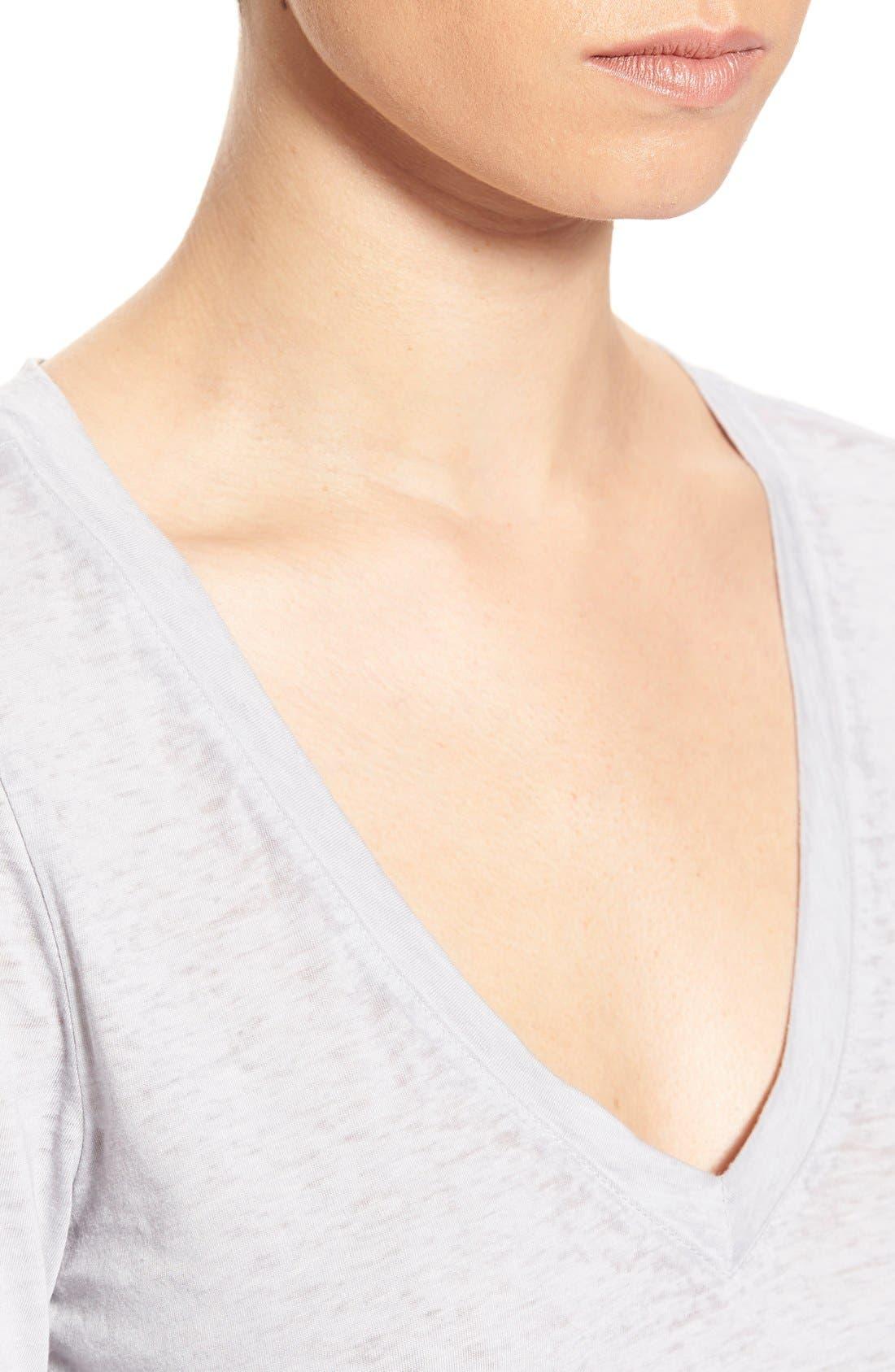 Alternate Image 4  - Stem Lightweight Long Sleeve V-Neck Tee