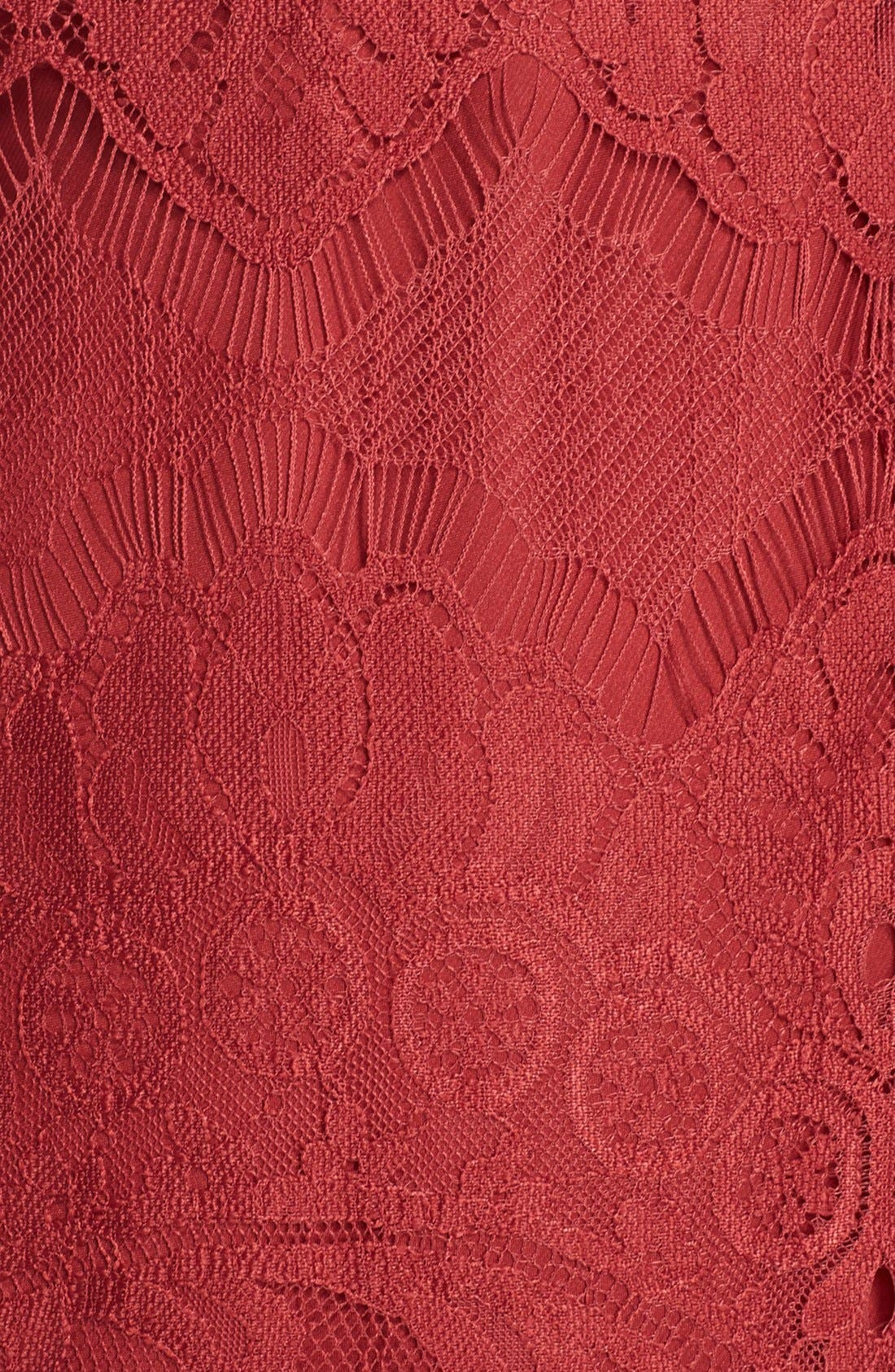 'Natalia' Lace Sheath Dress,                             Alternate thumbnail 5, color,                             Bordeaux