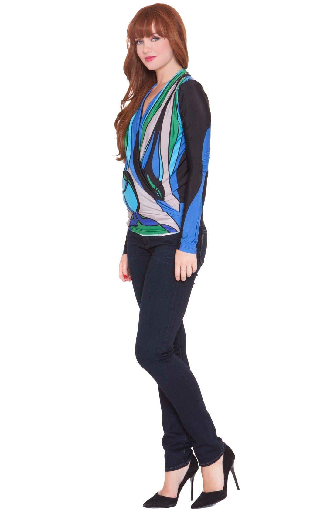 'Allison' Maternity Top,                             Alternate thumbnail 3, color,                             Blue