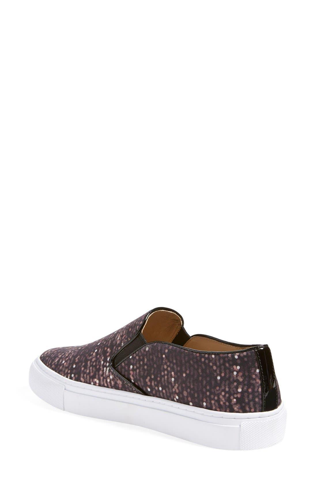 Alternate Image 2  - Tory Burch Print Slip-On Sneaker (Women)