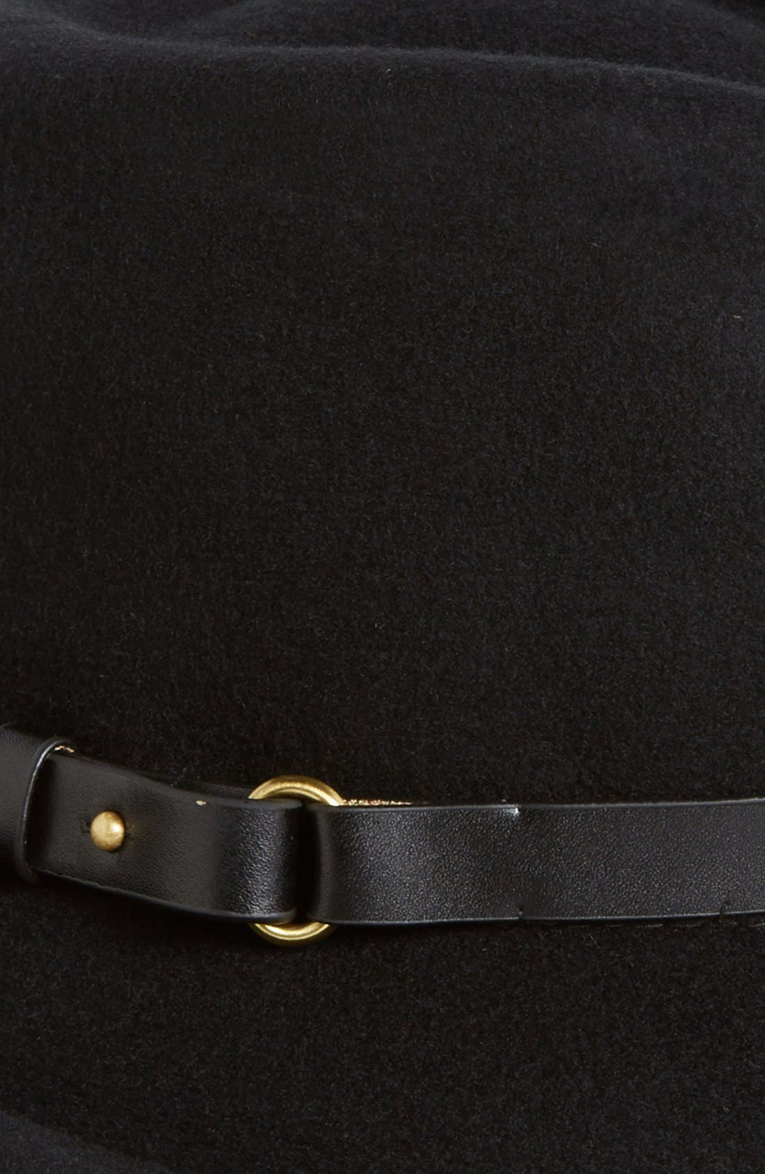 Classic Wool Fedora,                             Alternate thumbnail 2, color,                             Black
