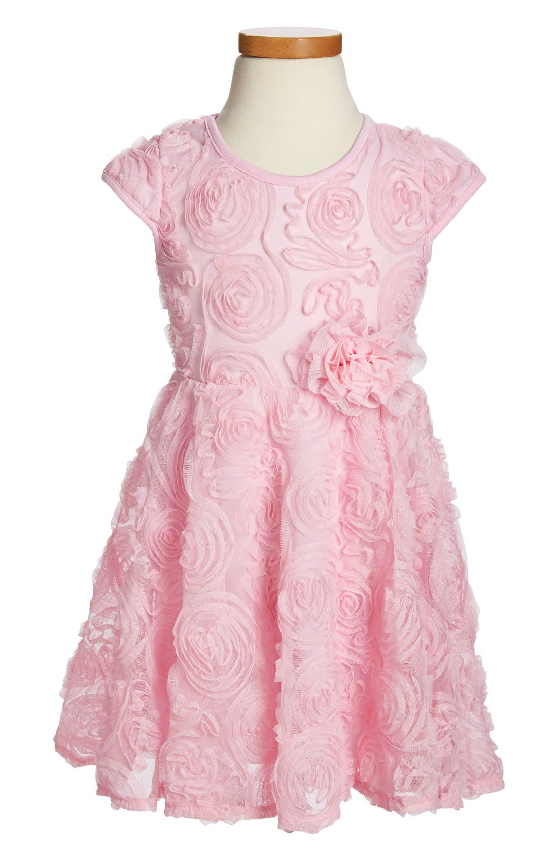 POPATU Ribbon RosetteFlower Dress