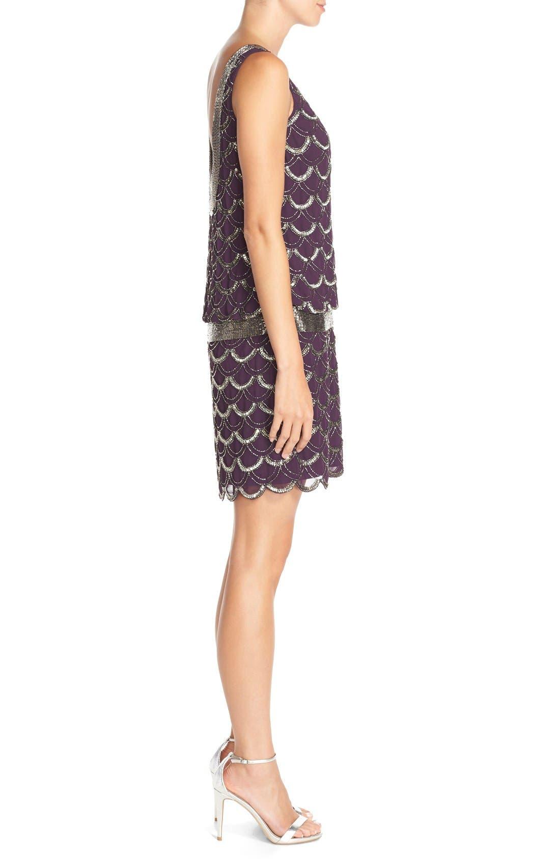 Alternate Image 3  - Adrianna Papell Beaded Chiffon Dress (Regular & Petite)
