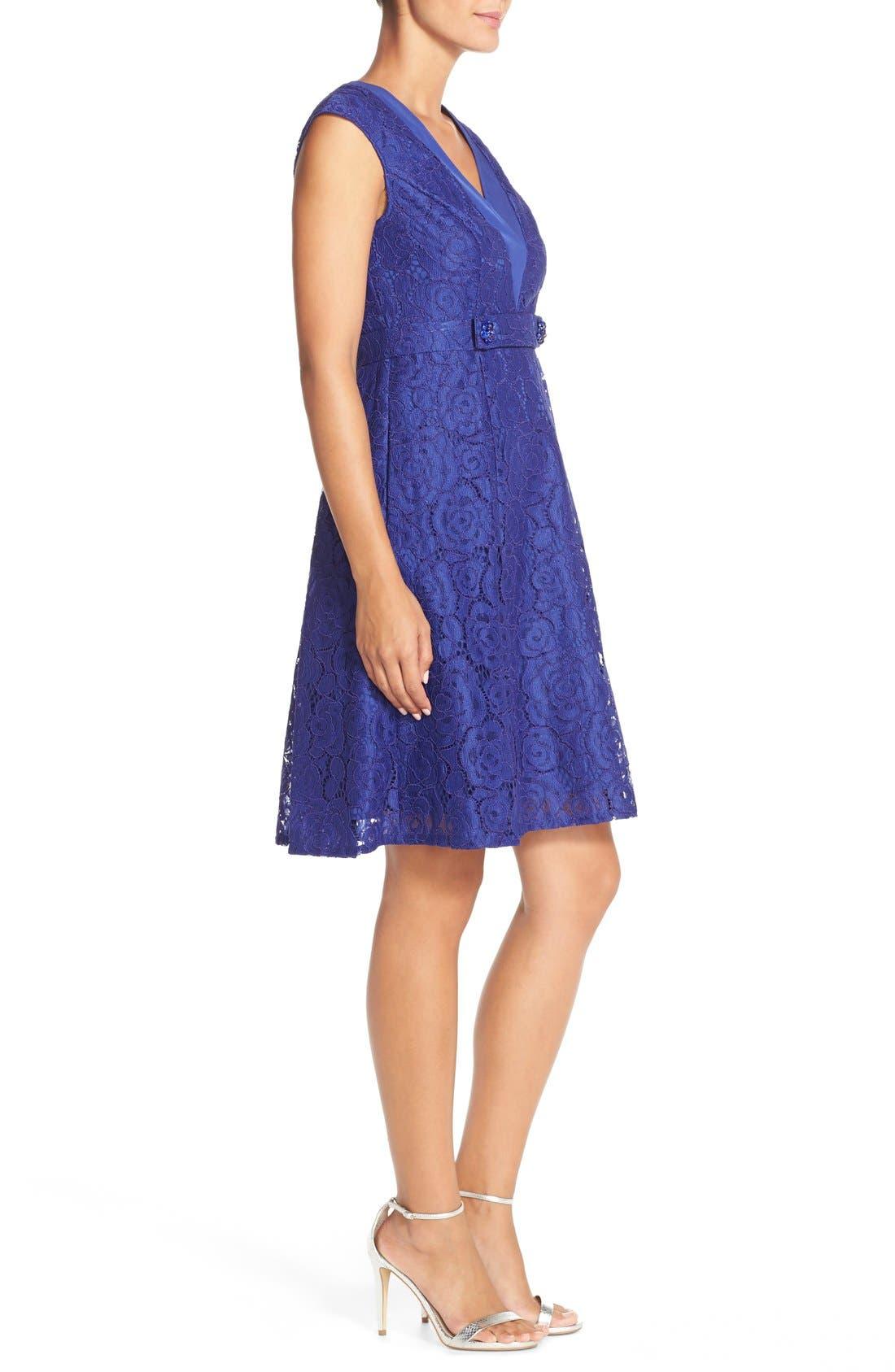 Alternate Image 3  - Adrianna PapellEmbellished Lace Fit & Flare Dress