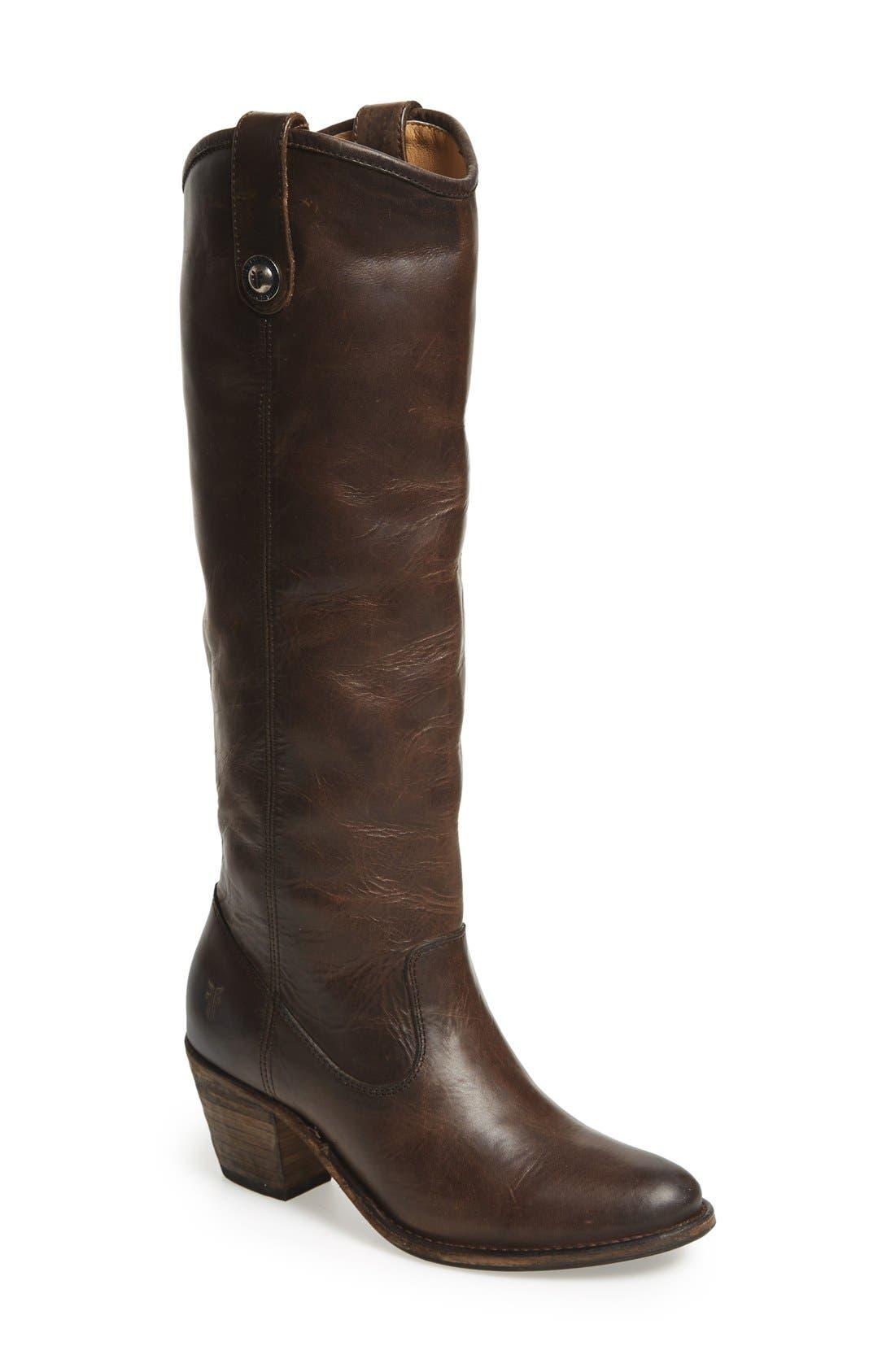 Main Image - Frye 'Jackie Button' Tall Boot (Women)