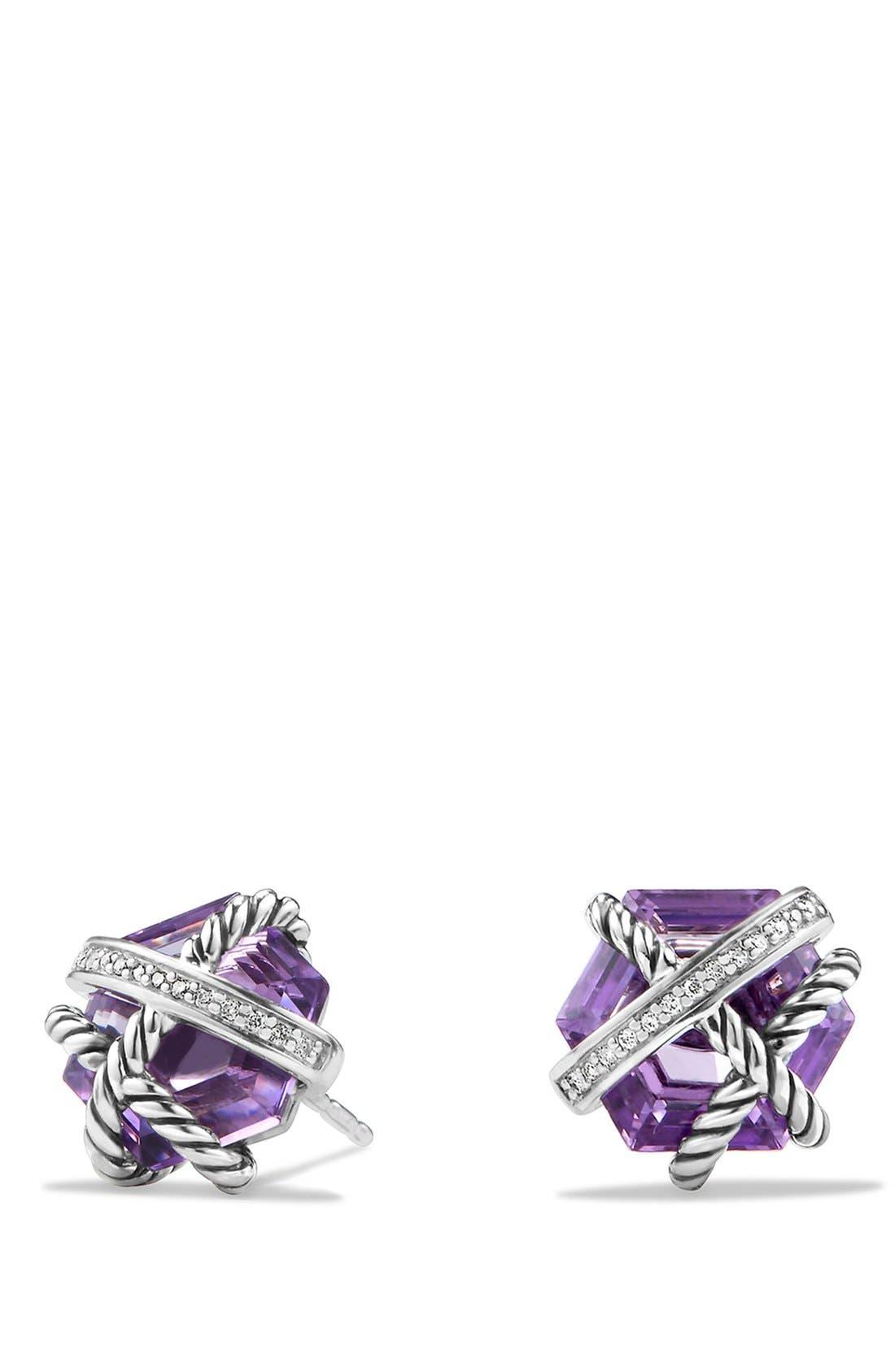 Main Image - David Yurman 'Cable Wrap' Earrings with Semiprecious Stones & Diamonds