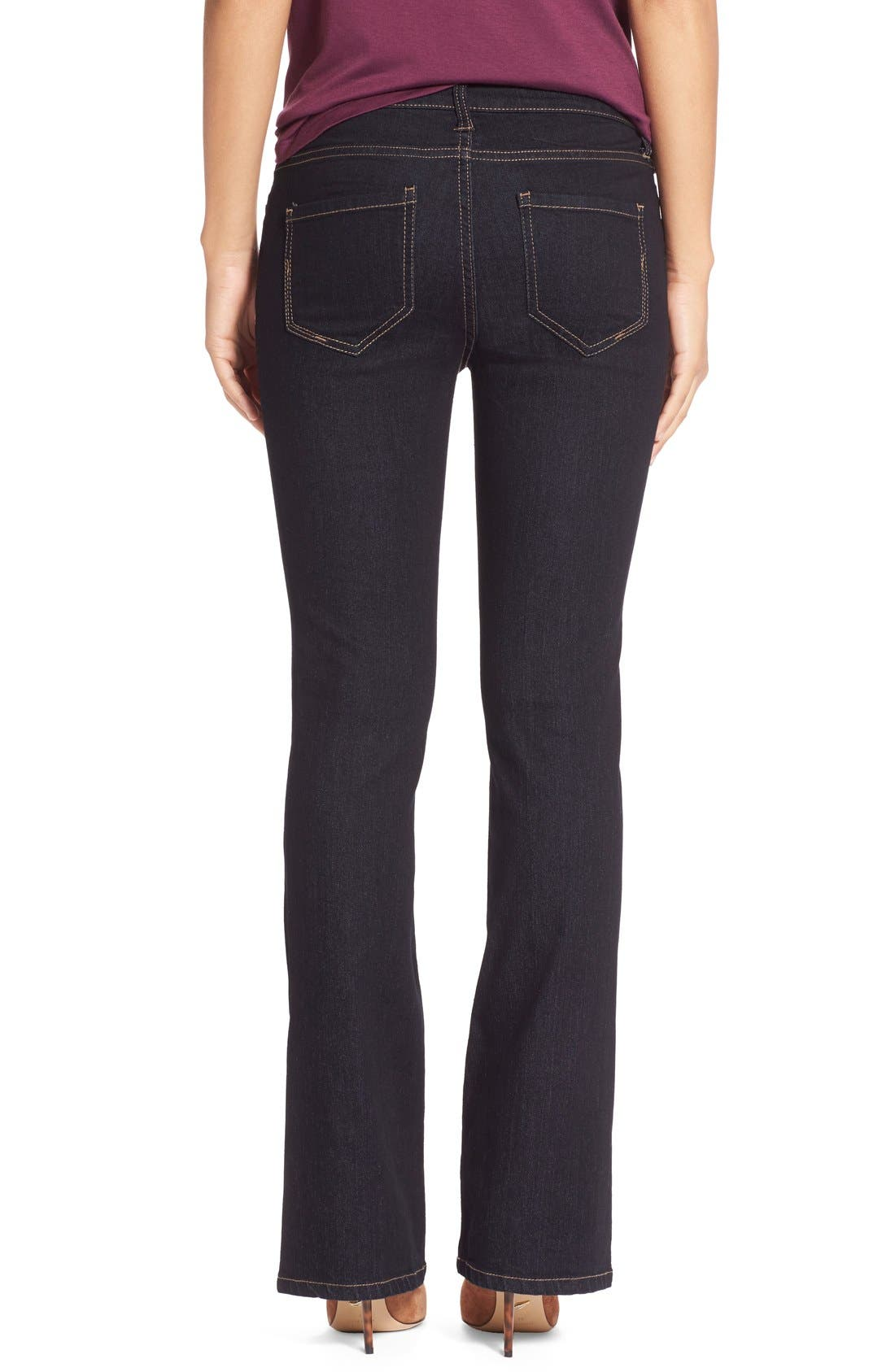 Lucy Stretch Bootcut Jeans,                             Alternate thumbnail 2, color,                             Indigo Rinse