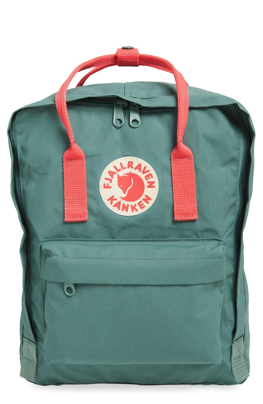 'Kånken' Water Resistant Backpack,                             Main thumbnail 1, color,                             Frost Green/ Peach Pink