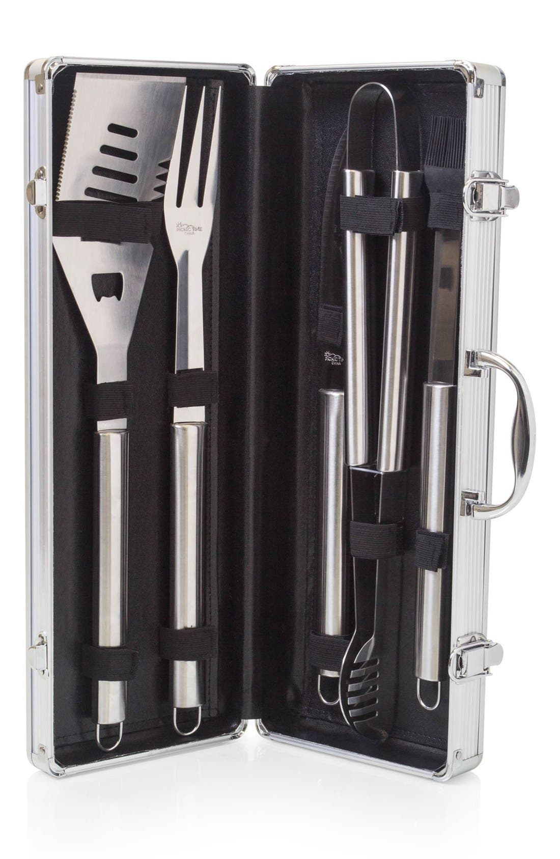 'Fiero' BBQ Tool Set,                             Alternate thumbnail 3, color,                             Black