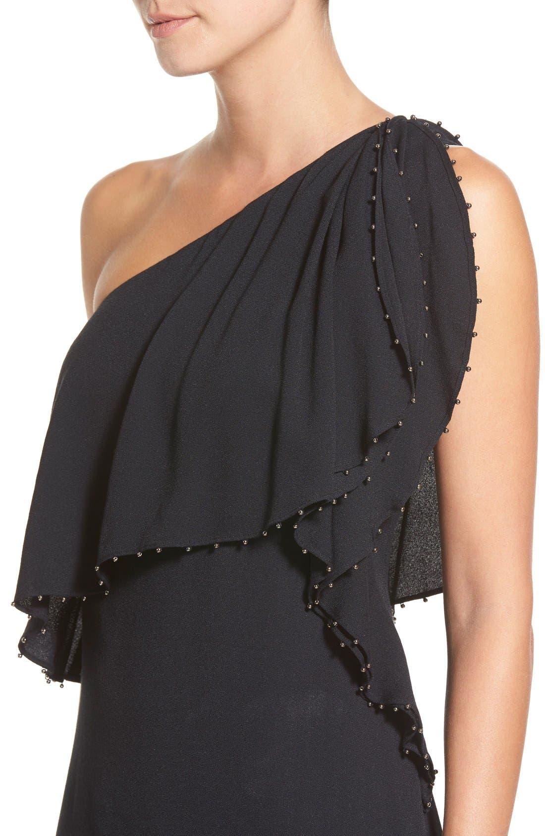 Alternate Image 4  - Ella Moss 'Stella' One Shoulder Crepe Dress