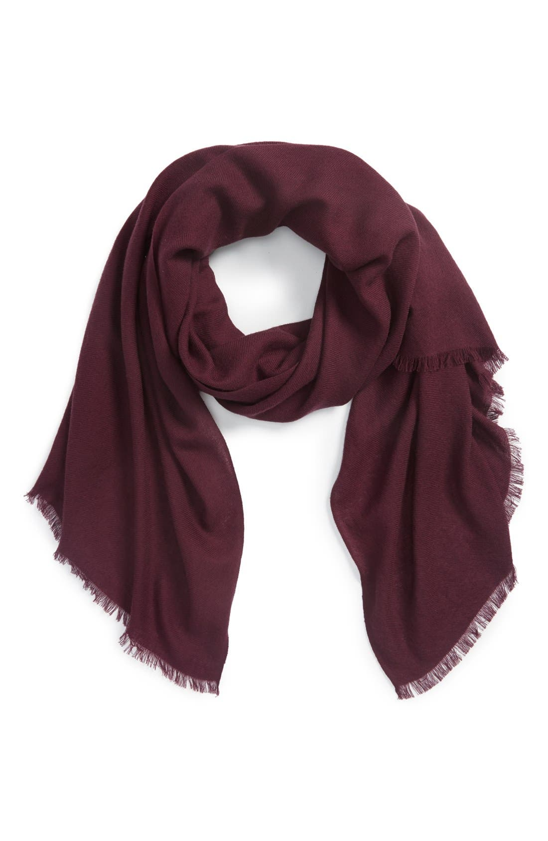 Alternate Image 1 Selected - Nordstrom Wool & Cashmere Wrap