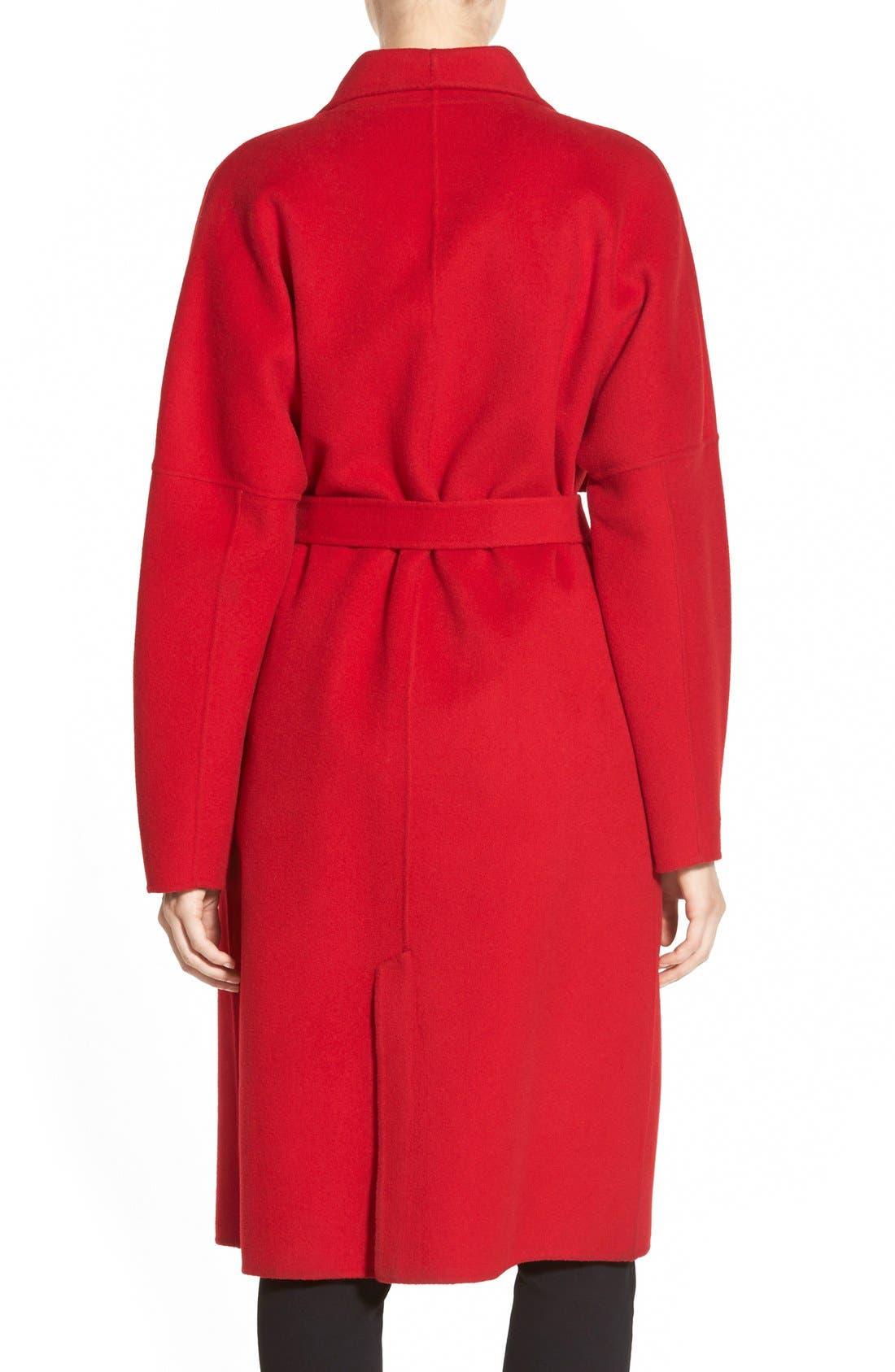 Alternate Image 3  - Badgley Mischka 'Audrey' LongDouble FaceWrap Coat