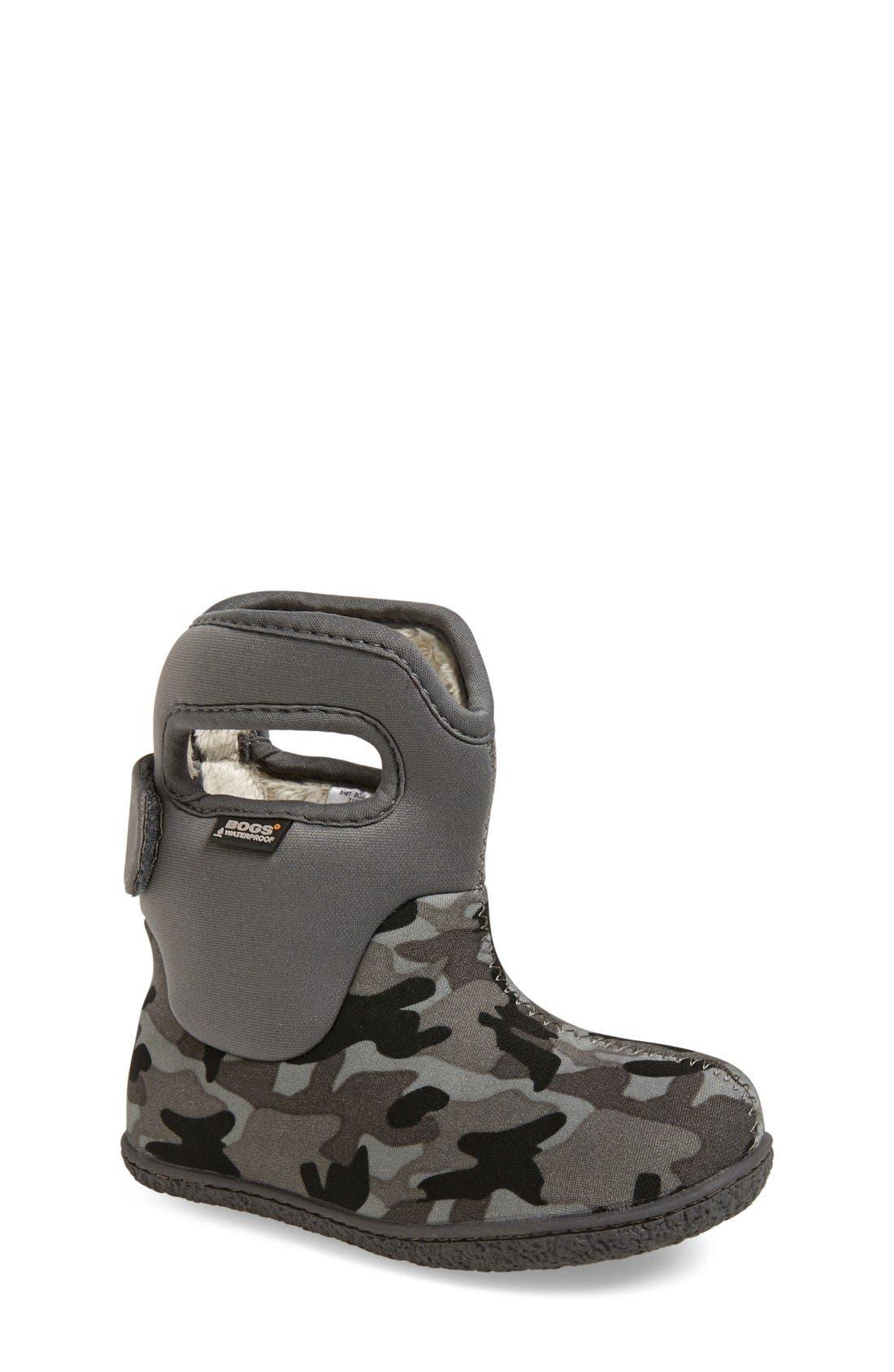 Main Image - Bogs 'Baby Bogs - Camo' Waterproof Boot (Walker & Toddler)