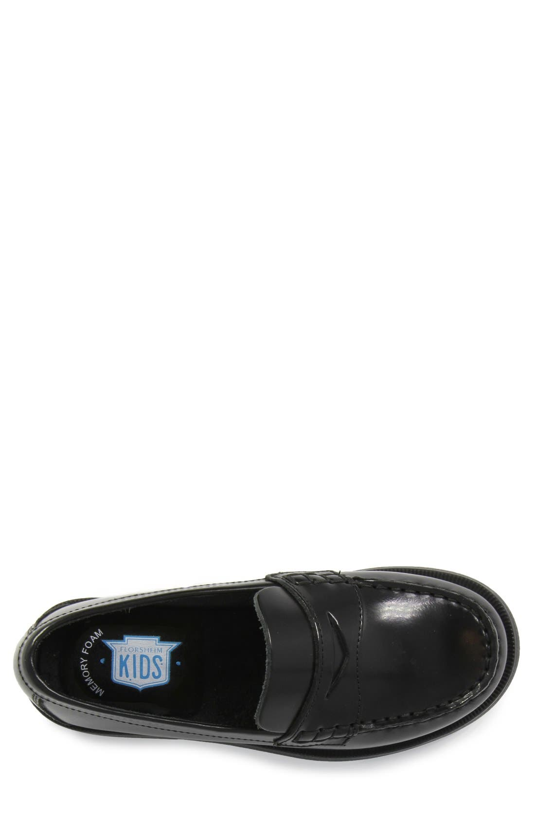 'Croquet' Penny Loafer,                             Alternate thumbnail 3, color,                             Black