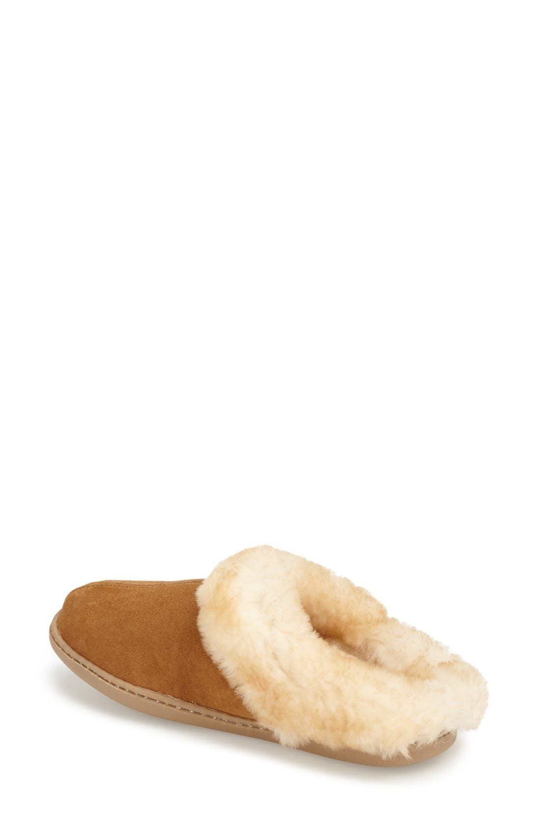 Sheepskin Mule Slipper,                             Alternate thumbnail 2, color,                             Tan Suede