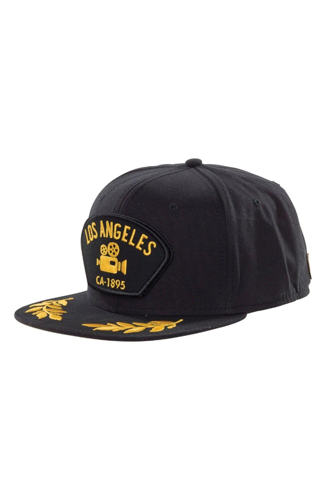 GoorinBrothers 'LosAngeles' Cap,                         Main,                         color, Black