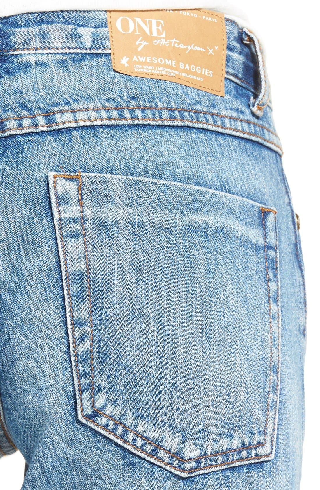 Alternate Image 4  - One Teaspoon 'Awesome Baggies' CropBoyfriend Jeans