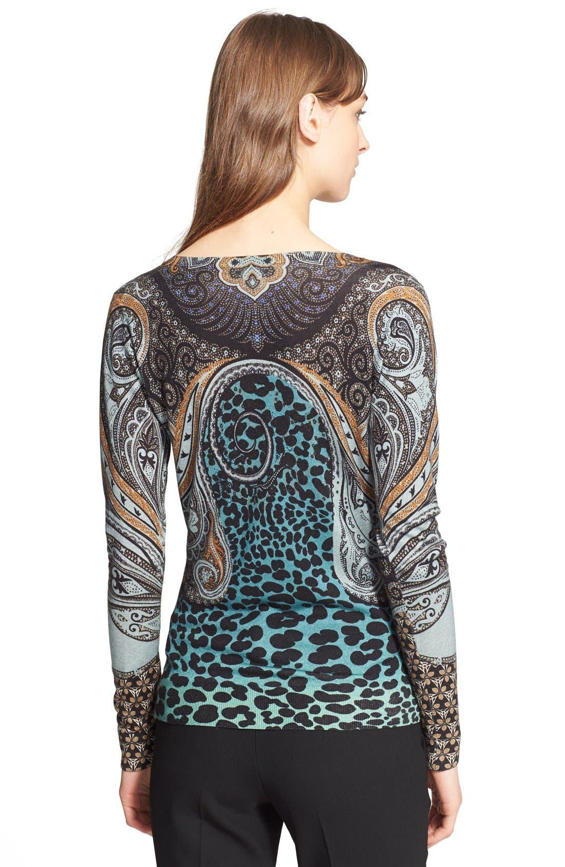 Alternate Image 2  - Etro Python Print Silk & Cashmere Sweater