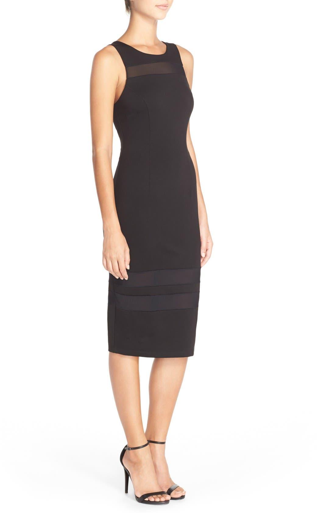 Alternate Image 3  - Charlie Jade Mesh Inset Jersey Body-Con Dress
