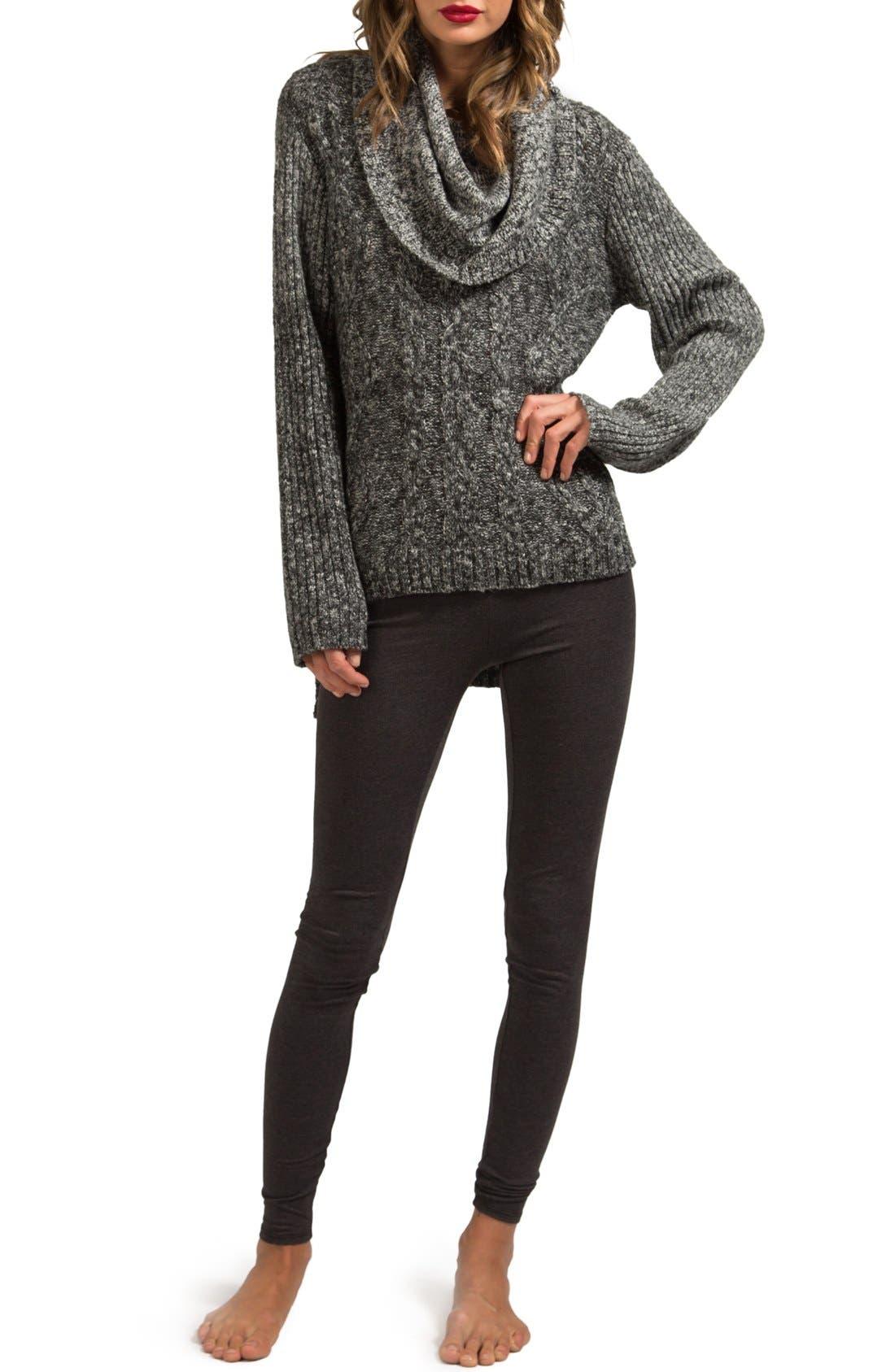 Alternate Image 2  - LAmade Oversize Cowl Neck High/Low Sweater