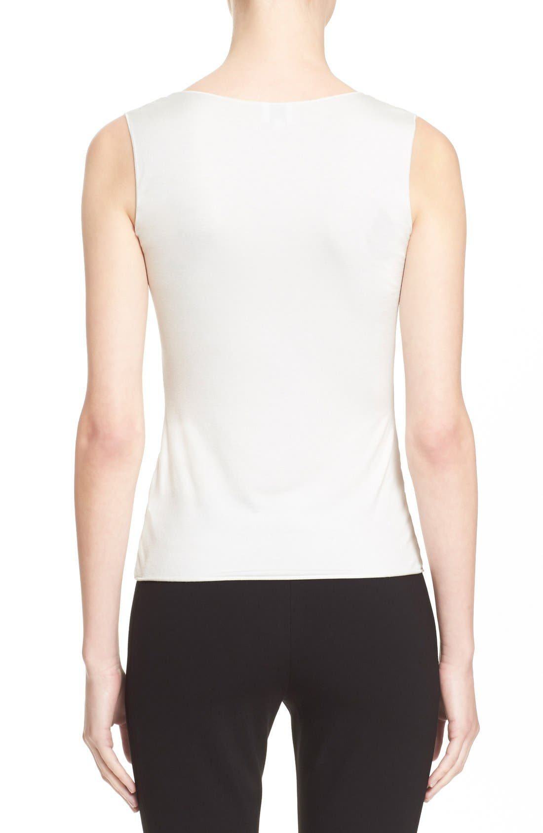 Jersey Tank,                             Alternate thumbnail 2, color,                             Solid White