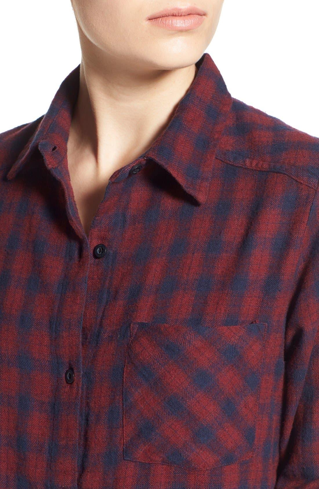 Alternate Image 4  - RVCA'Jig 2'Plaid Shirt