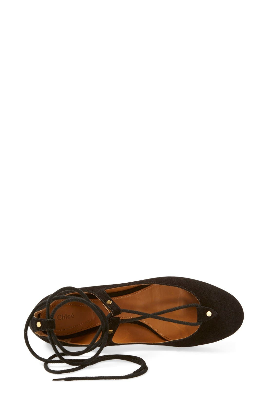 Alternate Image 3  - Chloé 'Foster' Lace-Up Ballet Flat (Women)
