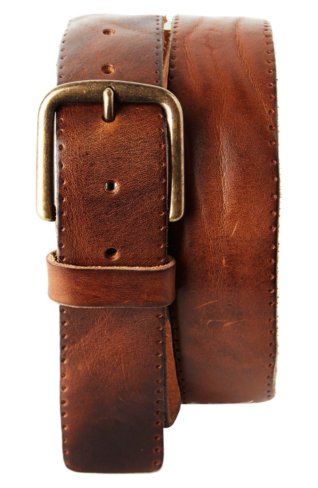 'Winslow' Leather Belt,                         Main,                         color, Tan