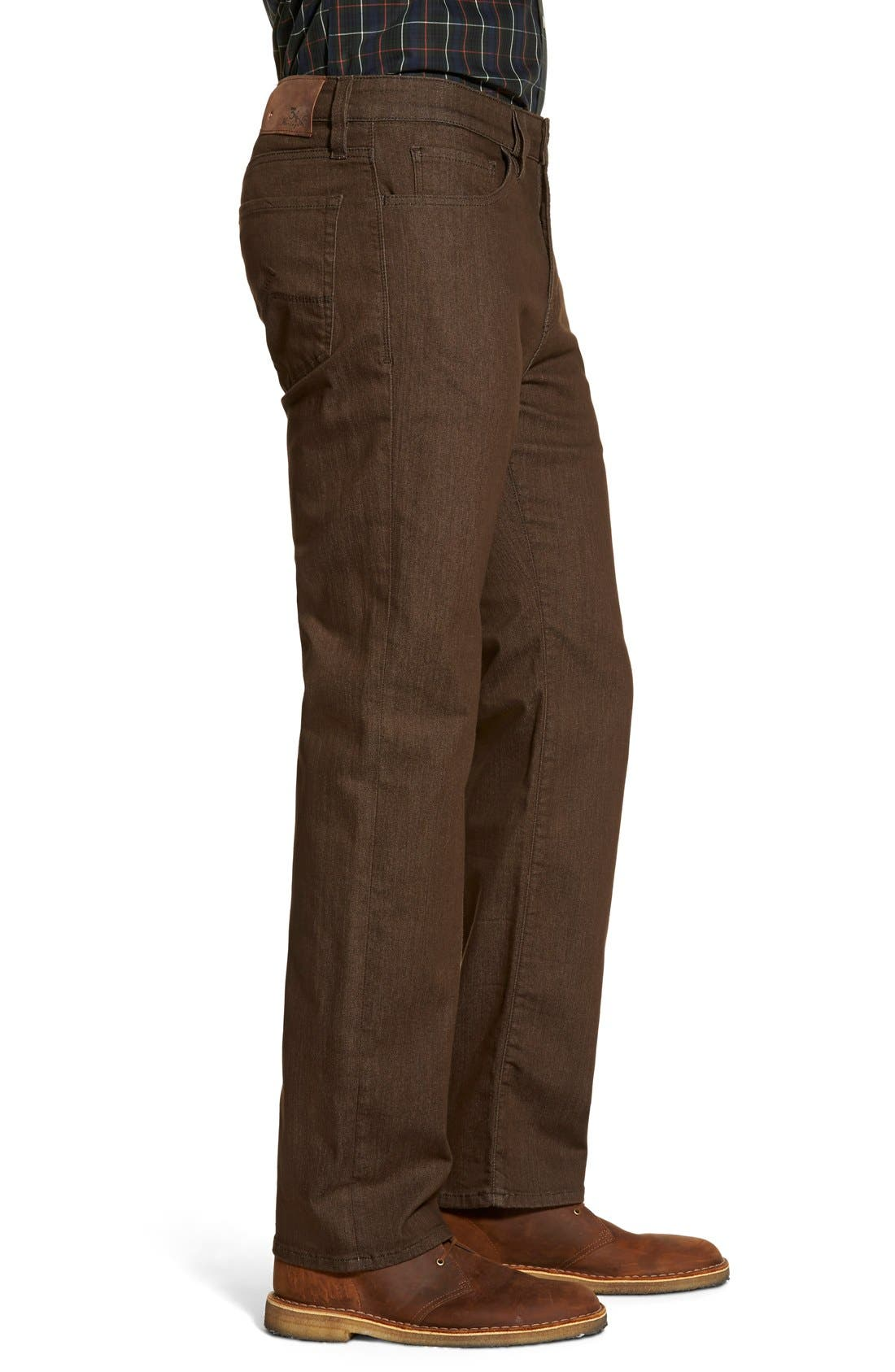 'Charisma' Relaxed Fit Jeans,                             Alternate thumbnail 3, color,                             Brown Comfort