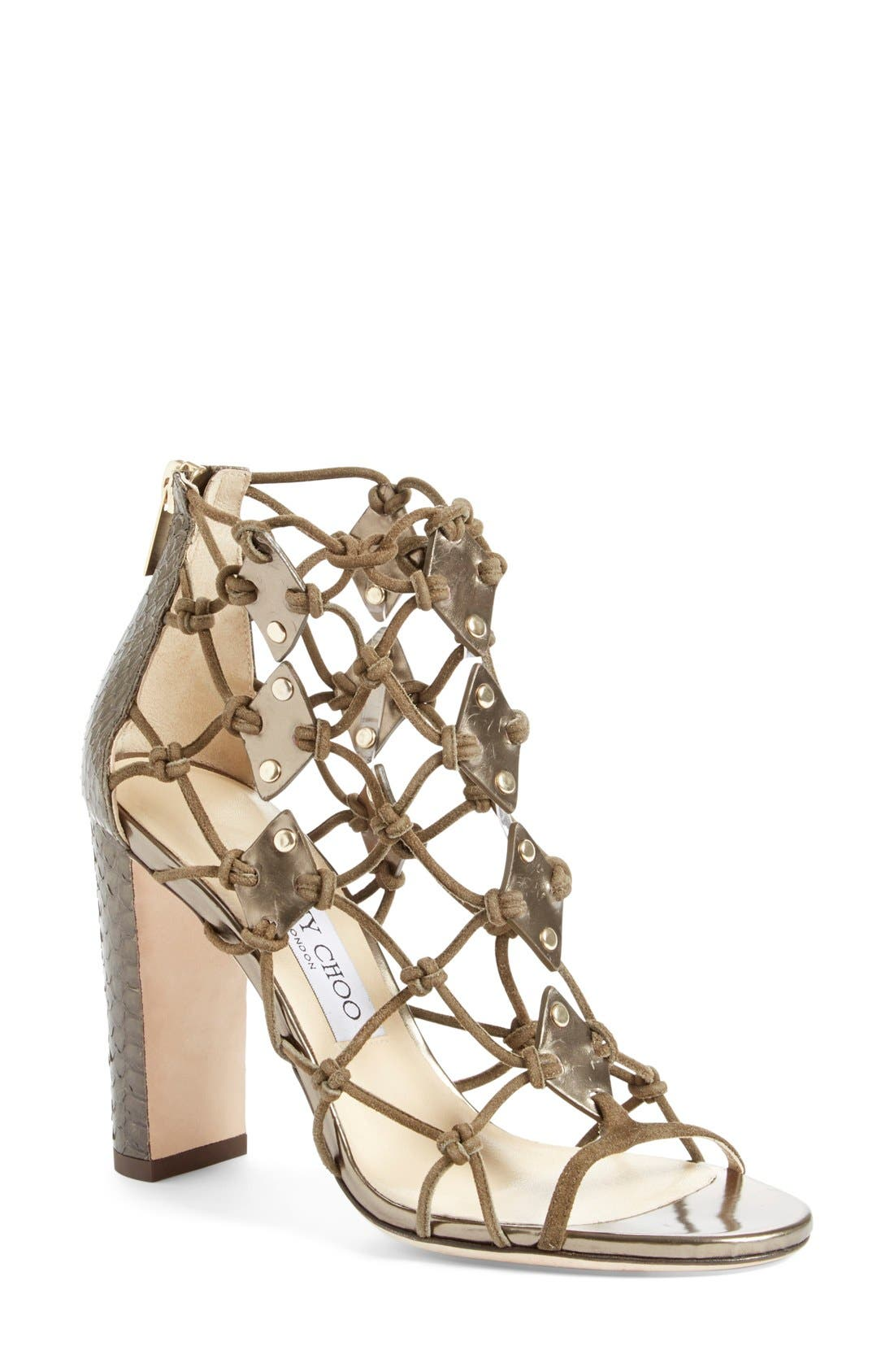 Main Image - Jimmy Choo 'Trickle' Caged Sandal (Women)