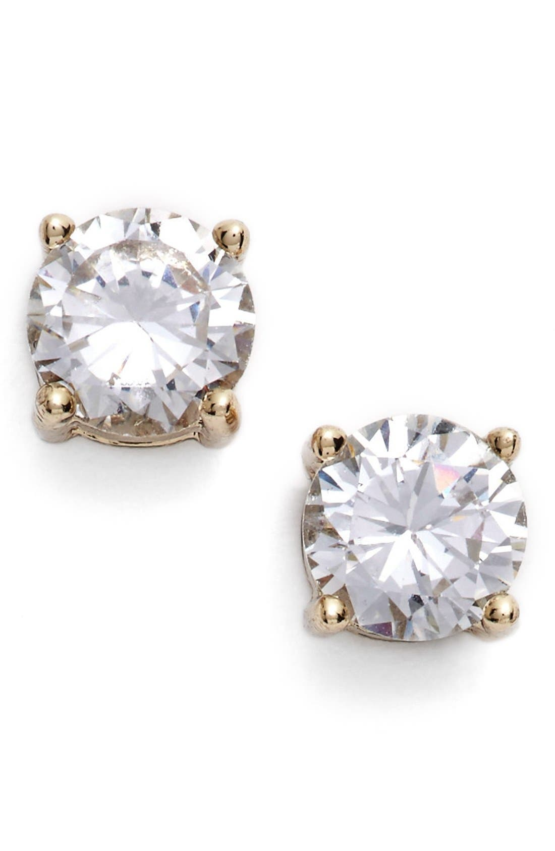 Crystal Stud Earrings,                             Main thumbnail 1, color,                             Gold