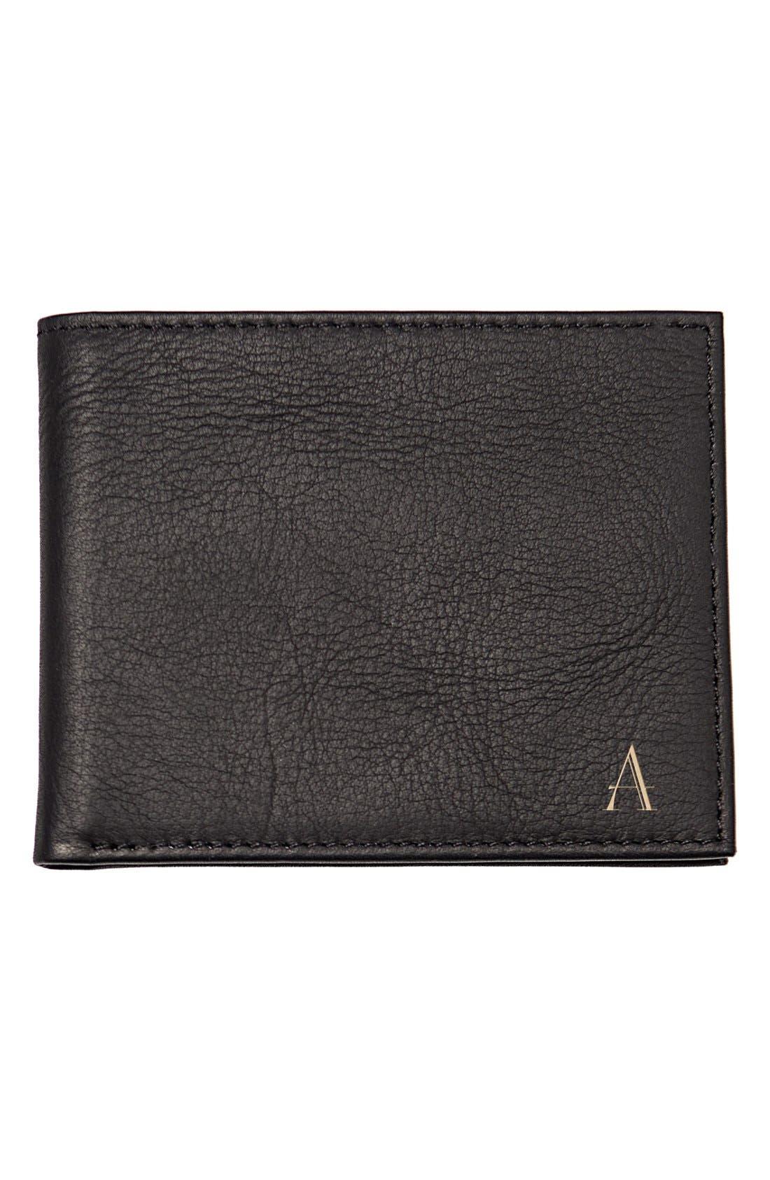 Monogram Bifold Wallet,                         Main,                         color, Black - A