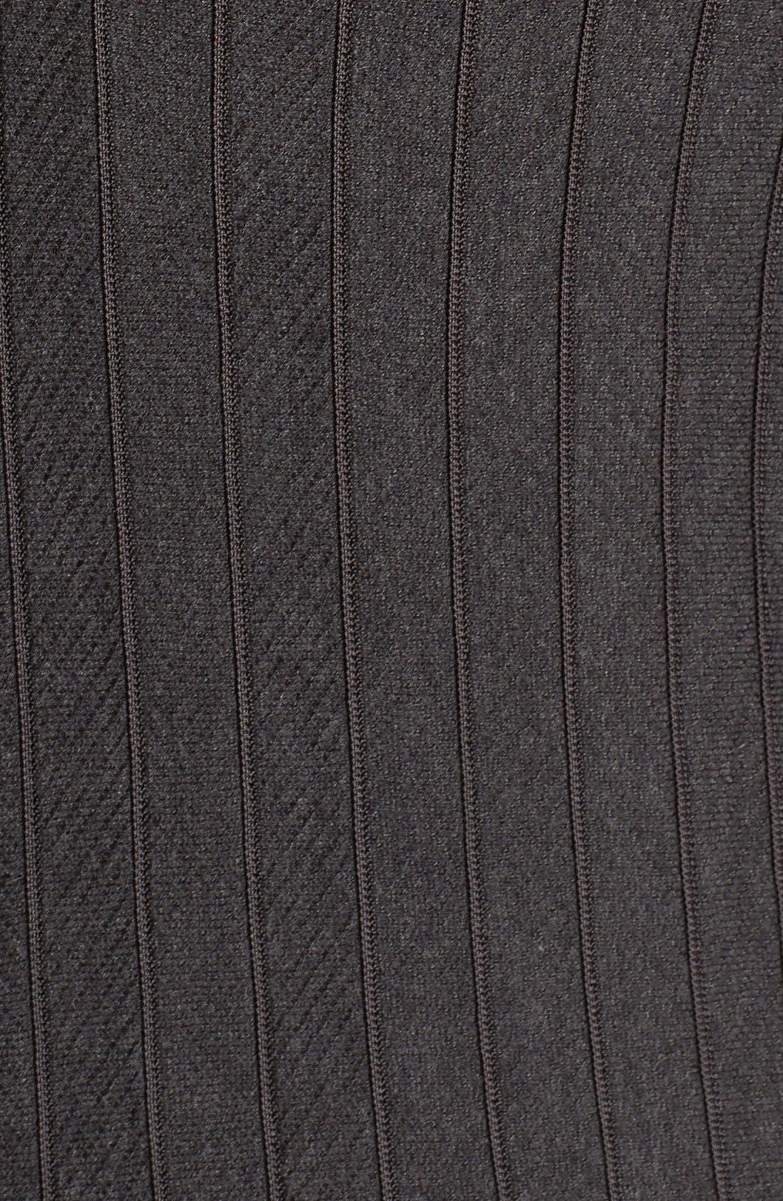 'Twirl' Elbow Sleeve Knit Fit & Flare Dress,                             Alternate thumbnail 5, color,                             Phantom Heather