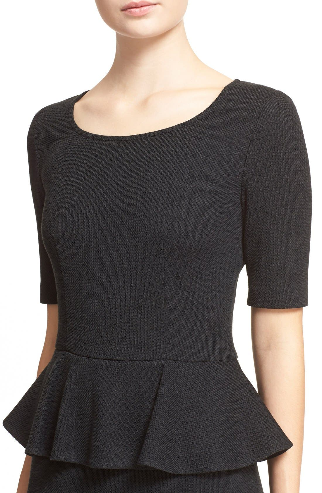 Alternate Image 5  - St. John Collection Peplum Milano Piqué Knit Dress