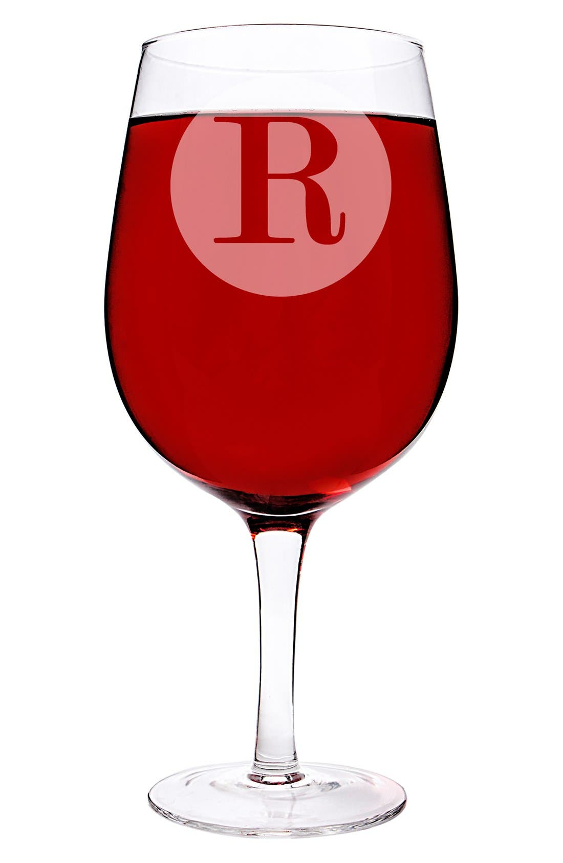 Alternate Image 2  - Cathy's Concepts Monogram 'XL' Novelty Wine Glass