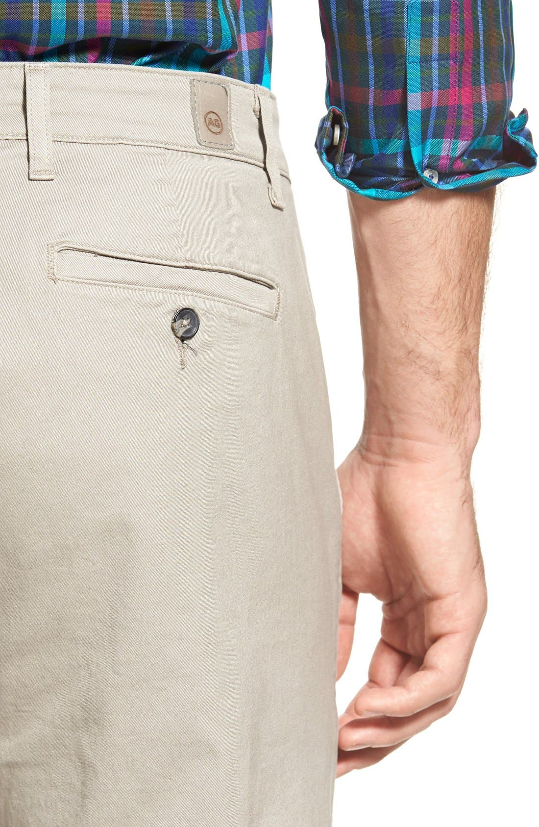Alternate Image 4  - AG Slim Straight Leg Chinos