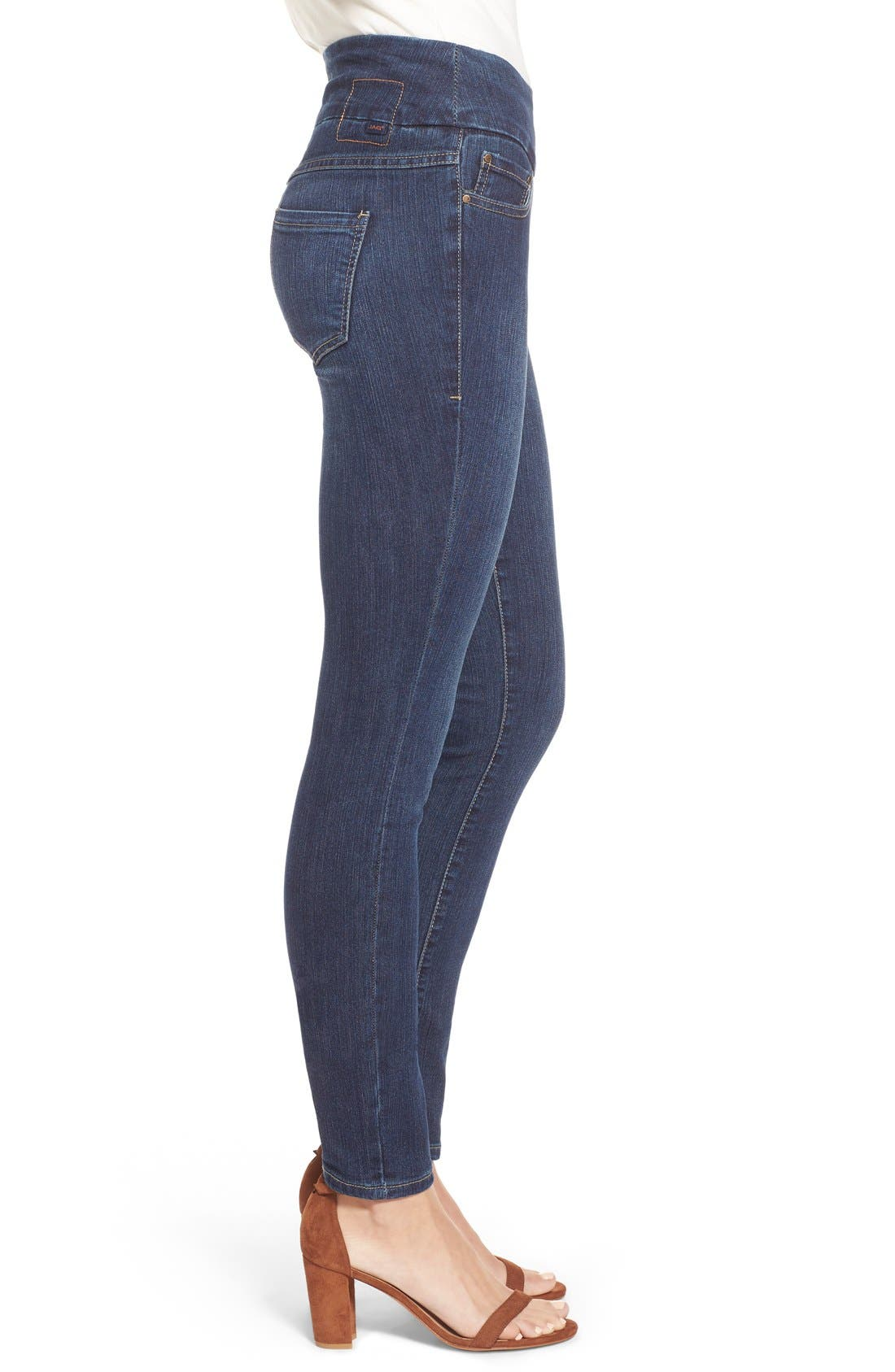 Alternate Image 3  - Jag Jeans 'Nora' Pull-On Stretch Skinny Jeans (Anchor Blue) (Regular & Petite)