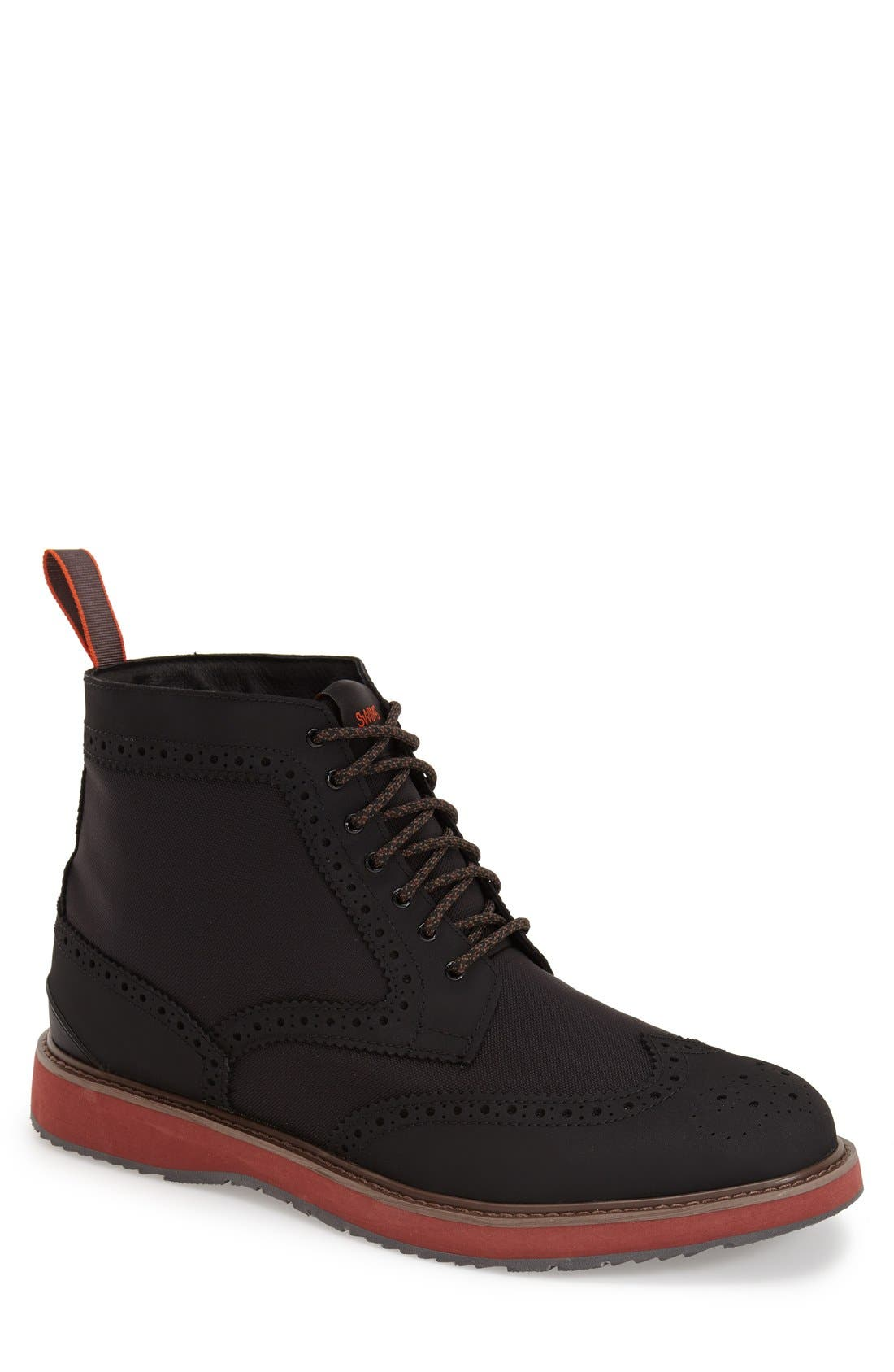 'Barry' Wingtip Boot,                         Main,                         color, Black