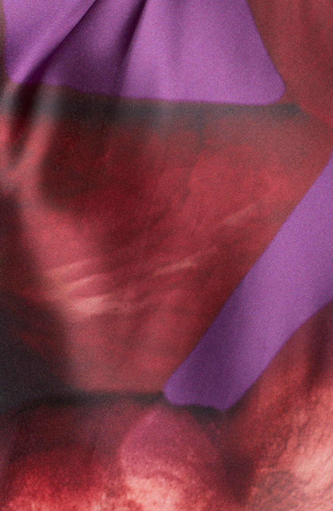 Alternate Image 5  - ML Monique Lhuillier Open Back Mikado Midi Dress
