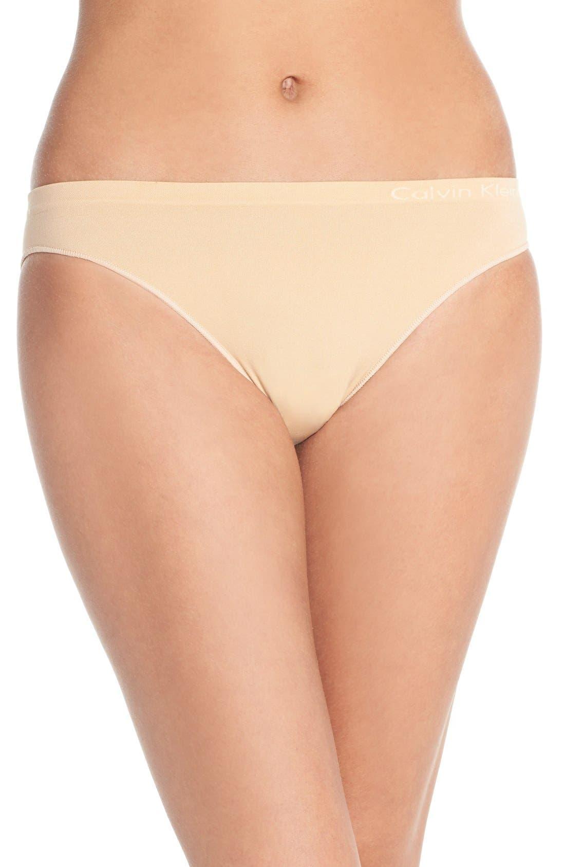 Alternate Image 1 Selected - Calvin Klein 'Pure' Seamless Bikini (3 for $33)